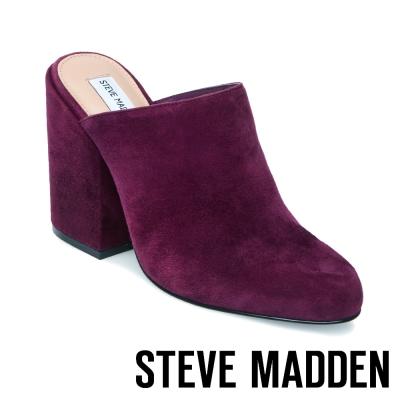 STEVE MADDEN-STELA-BURGUNDY 高跟穆勒鞋-紫色