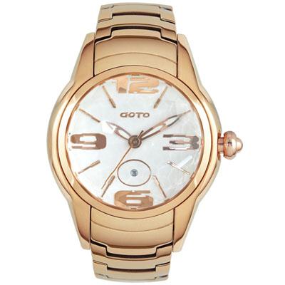 GOTO L.O.V.E系列腕錶-IP玫/43mm