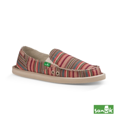 SANUK Valdese Weavers設計編織懶人鞋-女款(紅色)
