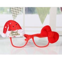摩達客 聖誕派對造型眼鏡-紅蝴蝶結聖誕帽