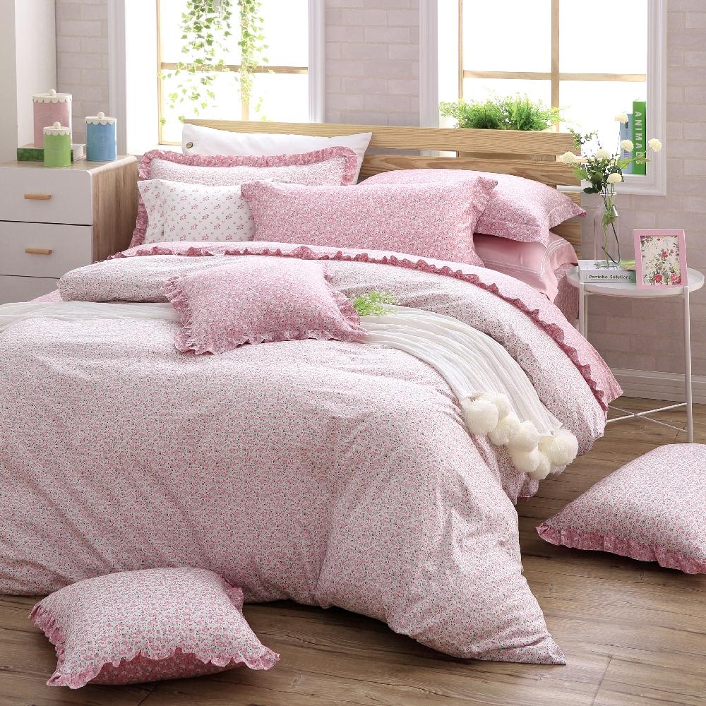 OLIVIA Ashley 標準單人床包荷葉枕套兩件組