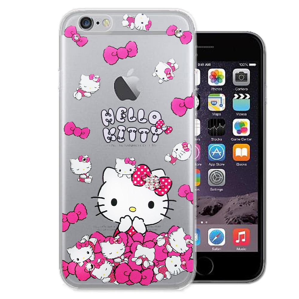 三麗鷗 Hello Kitty iPhone 6s / 6 水鑽系列手機殼(蝴蝶結凱蒂)