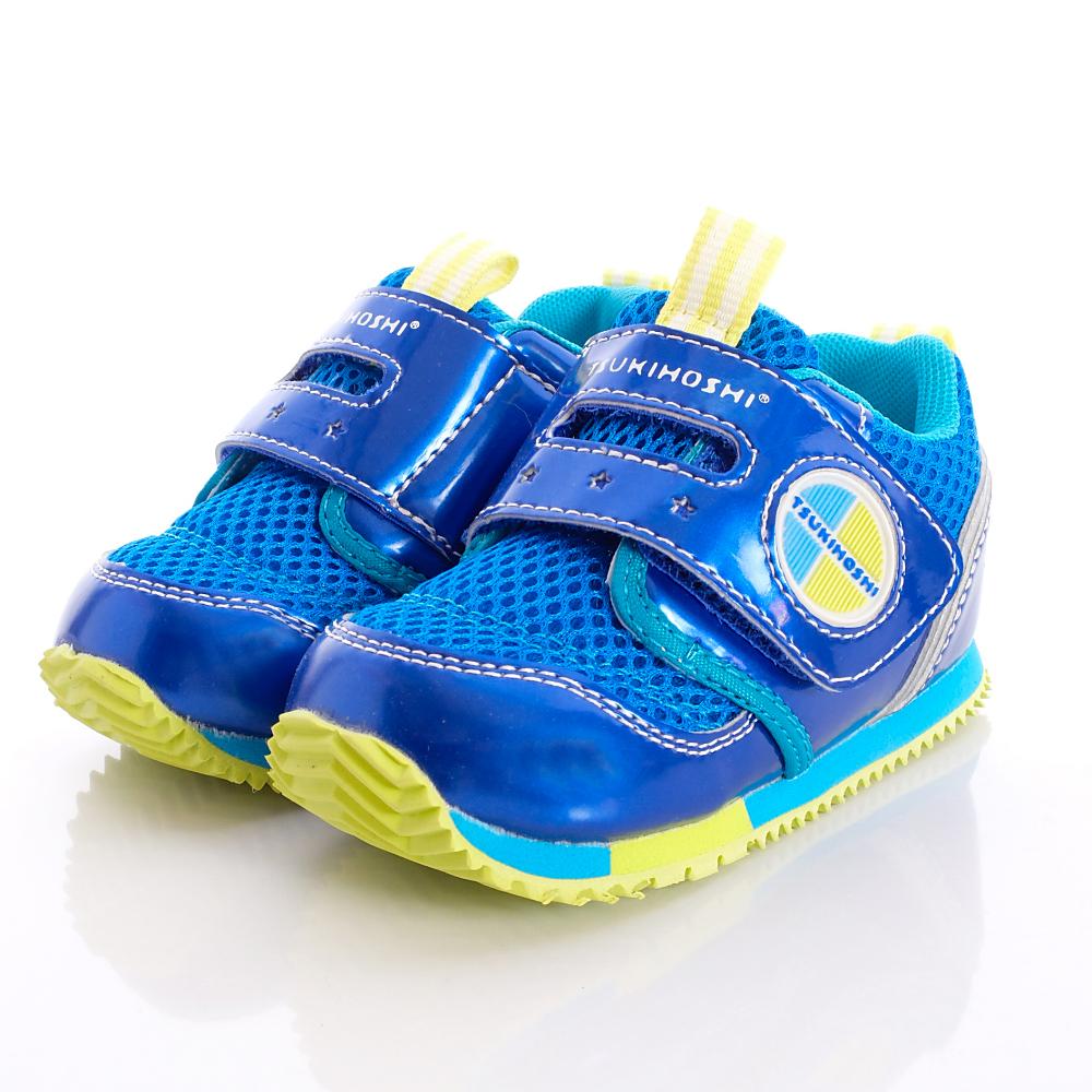 日本月星兒茶素機能鞋- 新易穿脫機能款-TSKB100695藍(寶寶段)