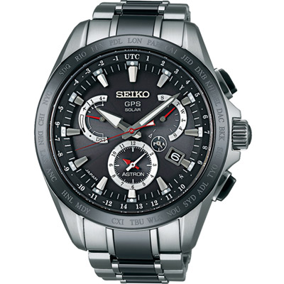 SEIKO ASTRON GPS 太陽能衛星電波腕錶(SSE041J1)-深灰色/45mm
