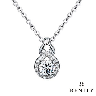 BENITY 唯你寵愛 925銀 鍍白金 女項鍊