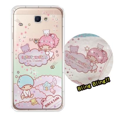 正版雙子星 Samsung Galaxy J7 Prime 彩鑽氣墊手機殼(雙子...