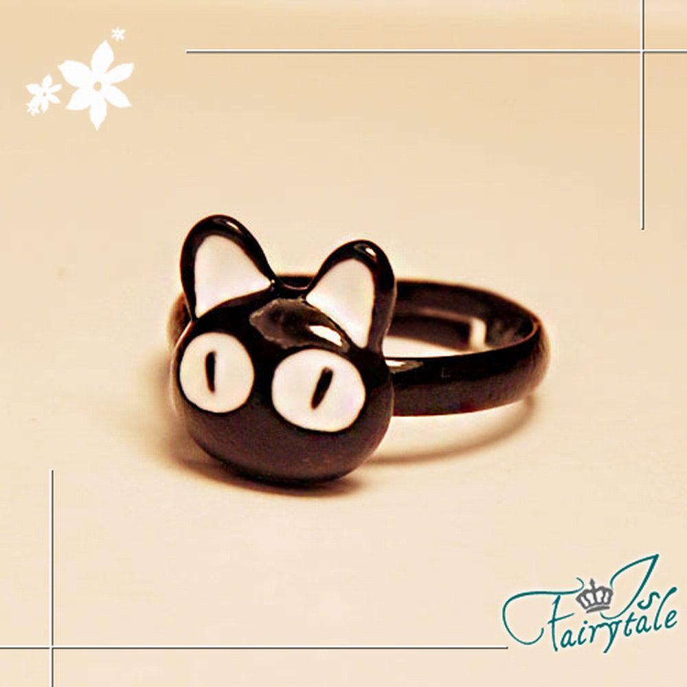 iSFairytale伊飾童話 卡通黑貓 活動戒指