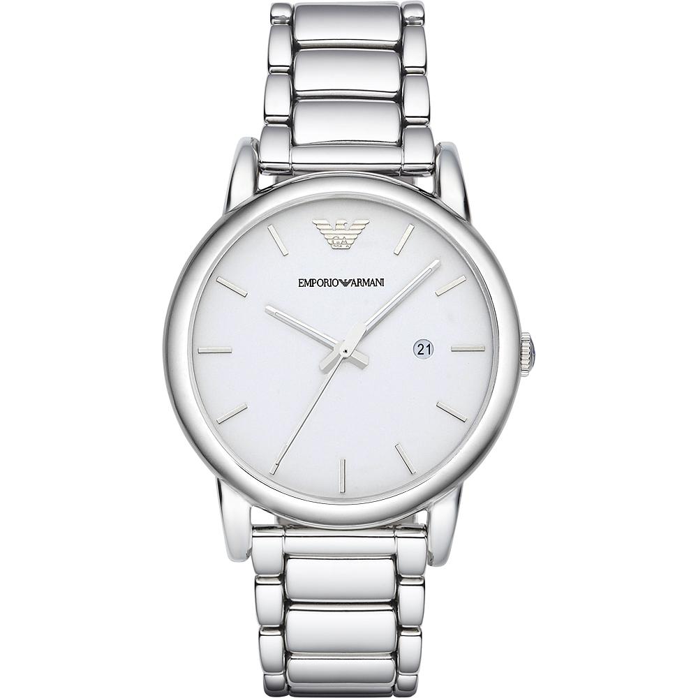Emporio Armani Classic 復刻品味經典腕錶-銀/41mm