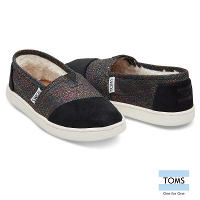 TOMS  亮麗條紋拼接懶人鞋-孩童款