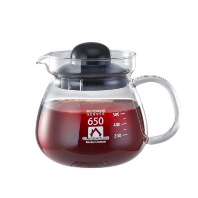 Glasshouse 台製耐熱玻璃壺/咖啡壺/花草茶壺650ML(B650)