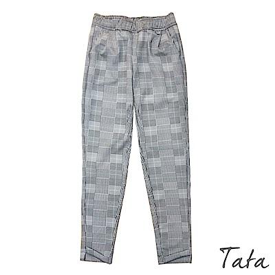 時尚格紋休閒長褲 TATA