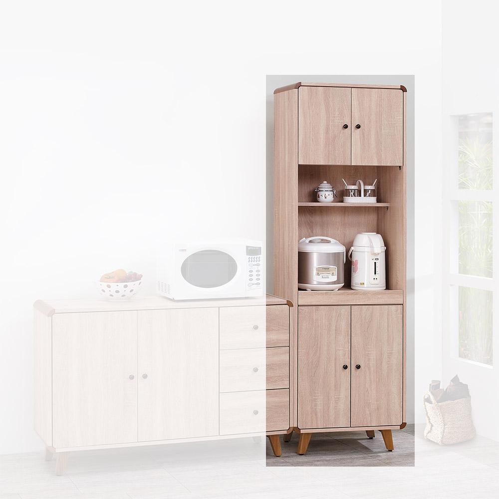 H&D 柏克6尺高收納餐櫃 (寬60X深40X高192cm)