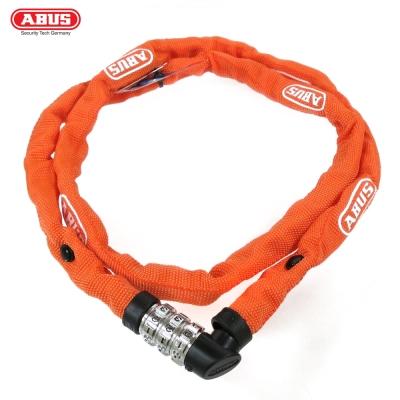 ABUS 德國防盜鎖 1200web Combo Chain 110cm單車密碼鎖-橘