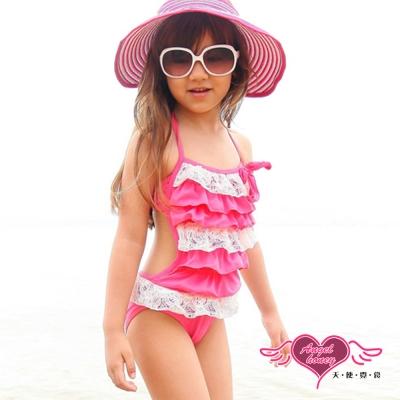 天使霓裳 甜粉寶貝 卡哇伊小童泳裝系列(粉M~XL)
