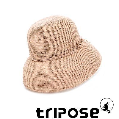 tripose 經典優雅-100%手工Raffia時尚遮陽草帽-帽簷-10cm(棕色)