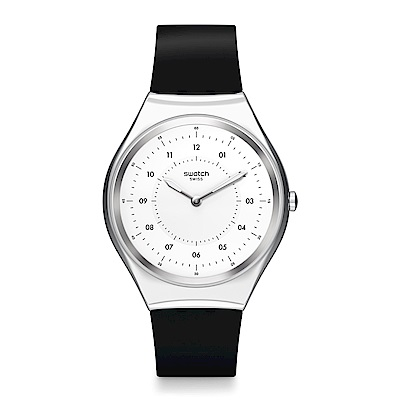 Swatch 超薄金屬系列 SKINNOIRIRON 極簡黑手錶