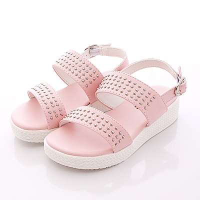 日本娃娃 鉚釘帥性涼鞋款 6680 粉 (中小童段)T1