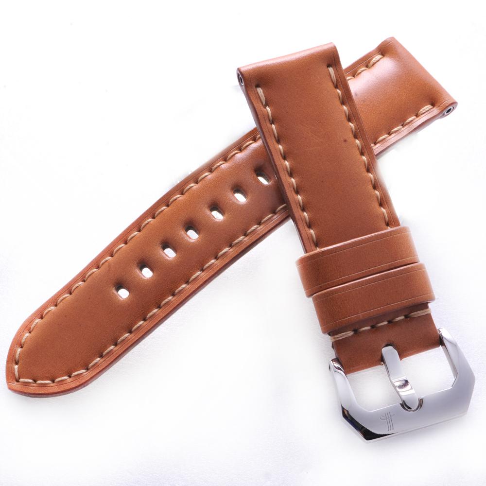 TED SU 太和錶帶 馬丘比丘Panerai 沛納海代用帶淺咖啡色米色線-24*24mm