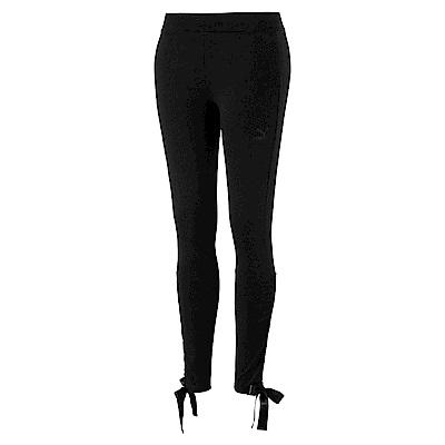 PUMA-女性流行系列蝴蝶結緊身褲-黑色-歐規