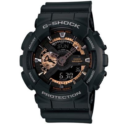 G-SHOCK 重機裝置造型雙顯運動錶(GA-110RG-1A)