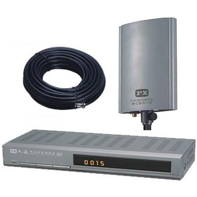PX大通DTV-2200M數位機上盒+DA-5000超值三件組