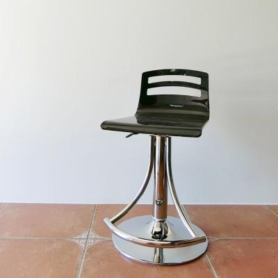 Amos-精品壓克力質感中背簡約升降吧檯椅