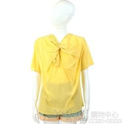 San Andres 黃色扭結設計短袖上衣