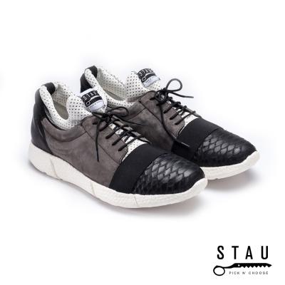 STAU|特立獨行 街頭時尚休閒鞋-灰黑色