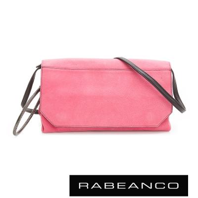 RABEANCO-色彩美學翻蓋肩背包-桃