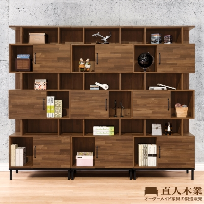 日本直人木業-MAKE積層木240CM書櫃(240x40x196cm)