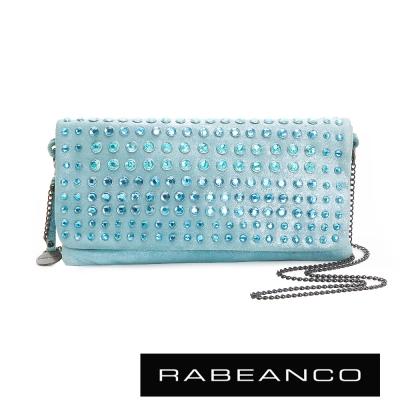 RABEANCO-璀璨時尚滿鑽晚宴手拿包-亮粉藍