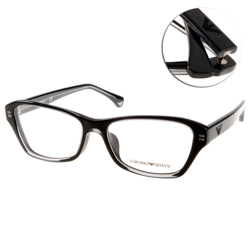 EMPORIO ARMANI眼鏡  義式經典/黑#EA3032F 5220