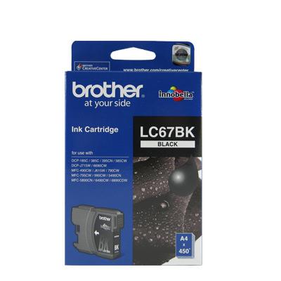 Brother LC67 原廠黑色墨水匣