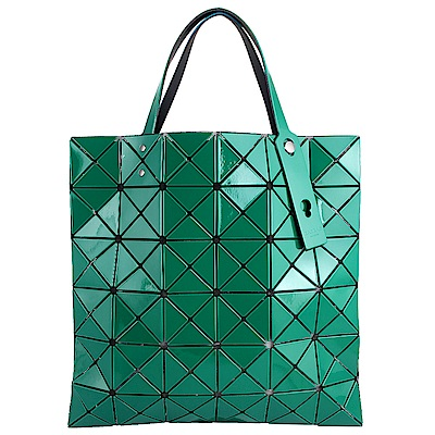 ISSEY MIYAKE 三宅一生BAOBAO 雙色軟質方格6x6手提包(綠/青綠)