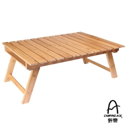 【Camping Ace】達人系列_純手工作天然竹材摺疊式野餐桌