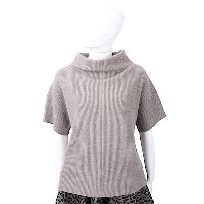 FABIANA FILIPPI 馬海毛直紋編織灰棕色美麗諾羊毛衫
