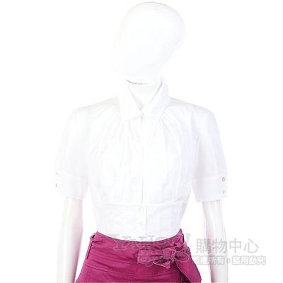 KENZO-antonio marras 白色束腰設計短袖襯衫