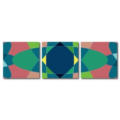 123點點貼- 三聯式無痕創意壁貼 -晶幻花精30*30cm
