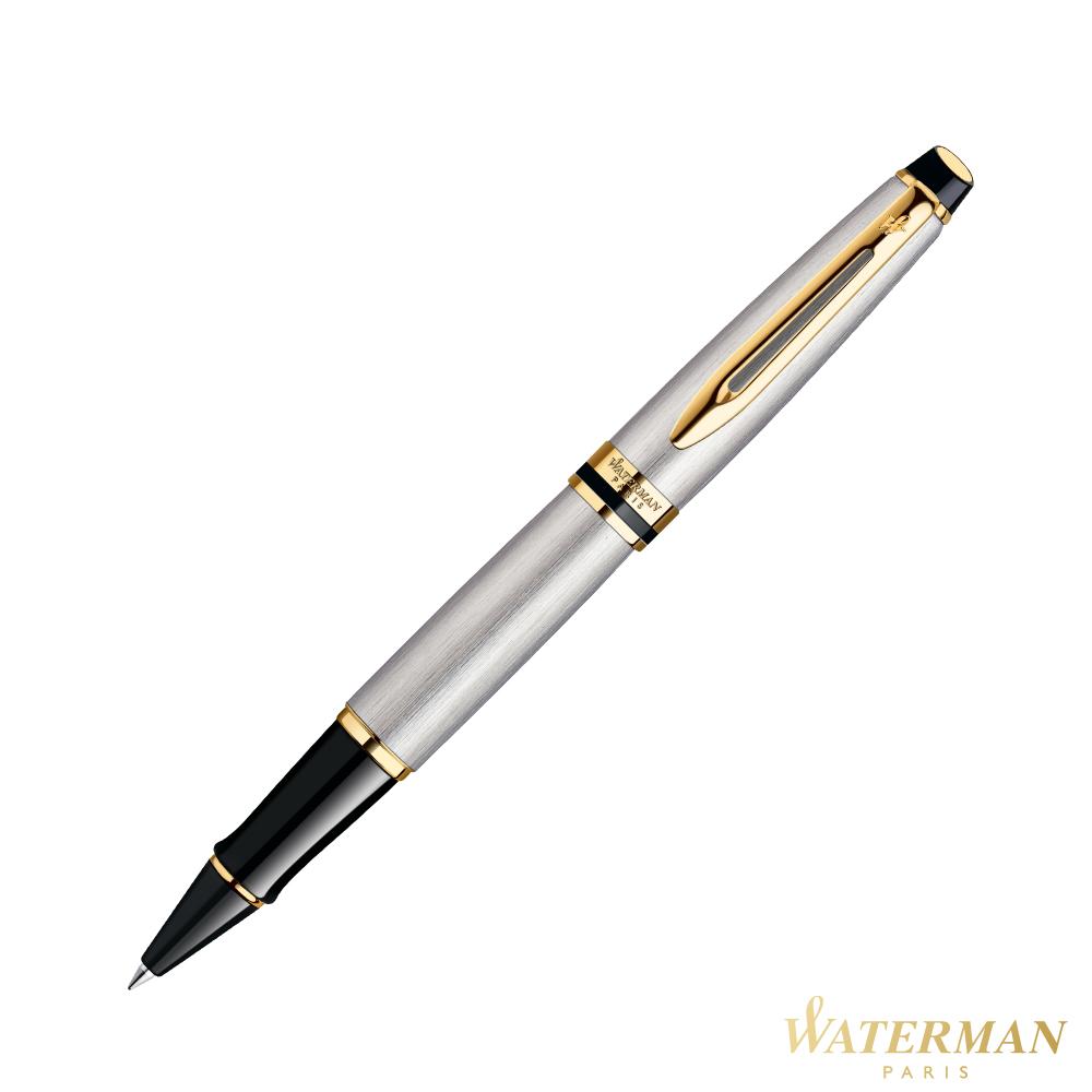 WATERMAN 權威系列 銀絲金夾 鋼珠筆