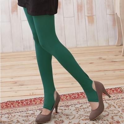 I-shi 時尚單色-雜誌必搭款踩腳襪(墨綠)