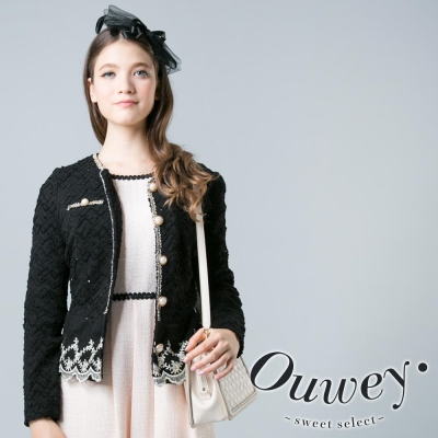 OUWEY歐薇-彈性香奈兒風金邊外套-共2色