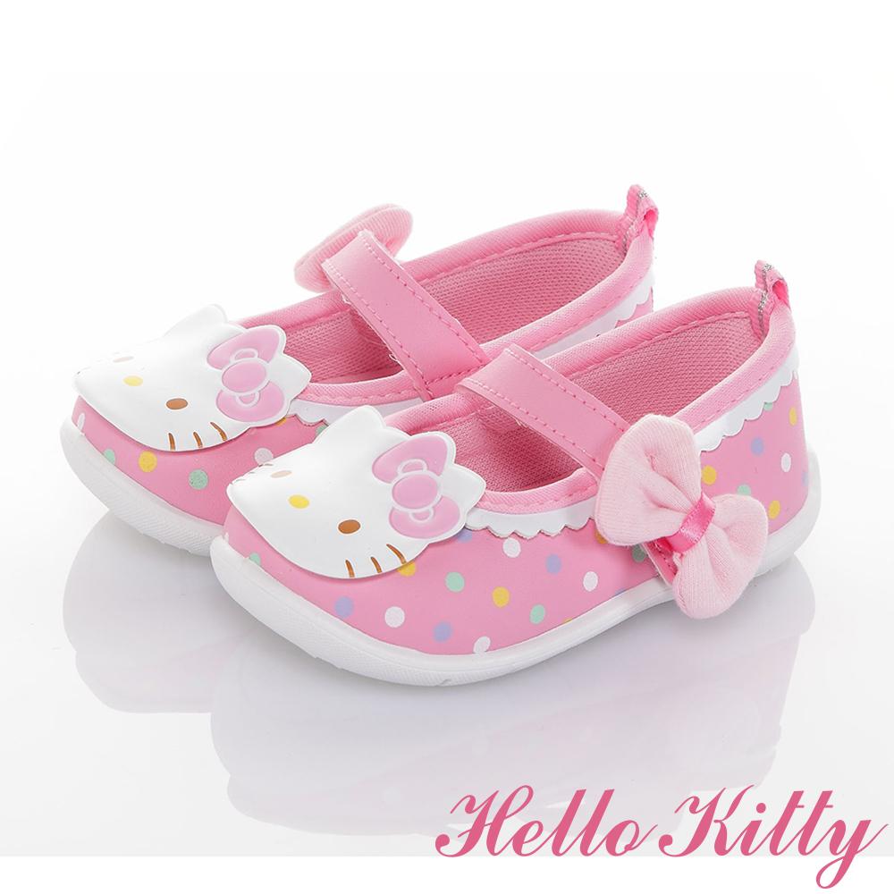 HelloKitty童鞋 輕量減壓抗菌防滑學步娃娃鞋-可室內-粉