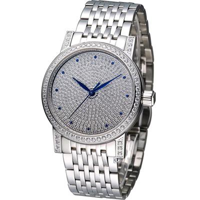 Ogival 愛其華滿天星晶鑽機械錶-銀/37mm