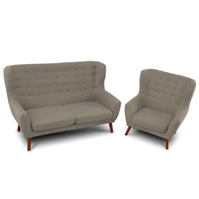日安家居-Charlotte夏洛特高背二件沙發組/二色