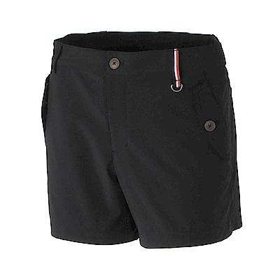 【Wildland 荒野】女RE四向彈性抗UV短褲-黑