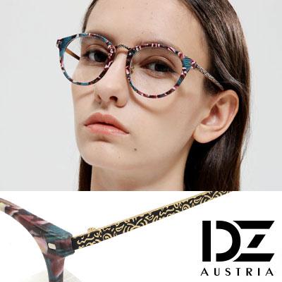 DZ 古典雕花鏡腳 平光眼鏡(復古彩框)