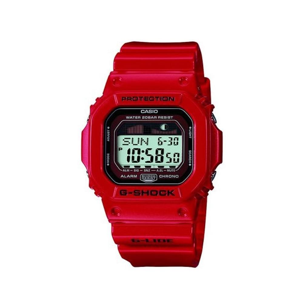 G-SHOCK G-LIDE 月齡潮汐錶(GLX-5600-4)-紅/43.2mm