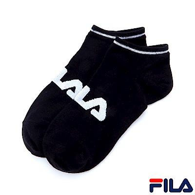 FILA 基本款棉質薄底踝襪-黑 SCS-1000-BK