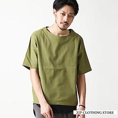 夏日涼爽套頭T恤(12色) ZIP日本男裝