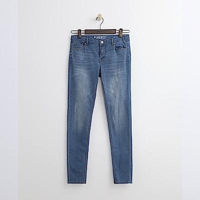 Hang-Ten-女裝-彈性萊卡窄管牛仔褲-淺藍色